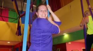 """I like aerial fitness because it gives me a new challenge so I can succeed in every class.  It feels good on my body and soul.""  Amanda S."