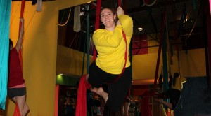 """Aerial fitness builds muscles, self-confidence, and it's great to see accomplishments in myself and others."" Ellen K."