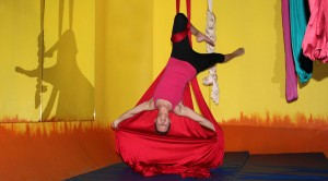 """Aerial silks provides an awesome workout with constant entertainment and new goals to achieve every class.""  Kari S."