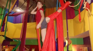 """I love aerial silks because it's wonderful for gaining upper body strength while still having fun.""  Madeline F."
